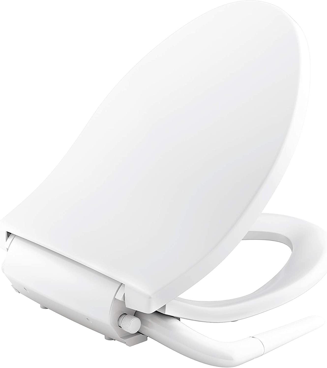 Kohler K 5724 0 Puretide Elongated Manual Bidet Toilet Seat White With Quiet Close Lid And Seat Adjustable Spray Pressure And Position Self Cleaning Wand No Batteries Or Electrical Outlet Needed Amazon Com