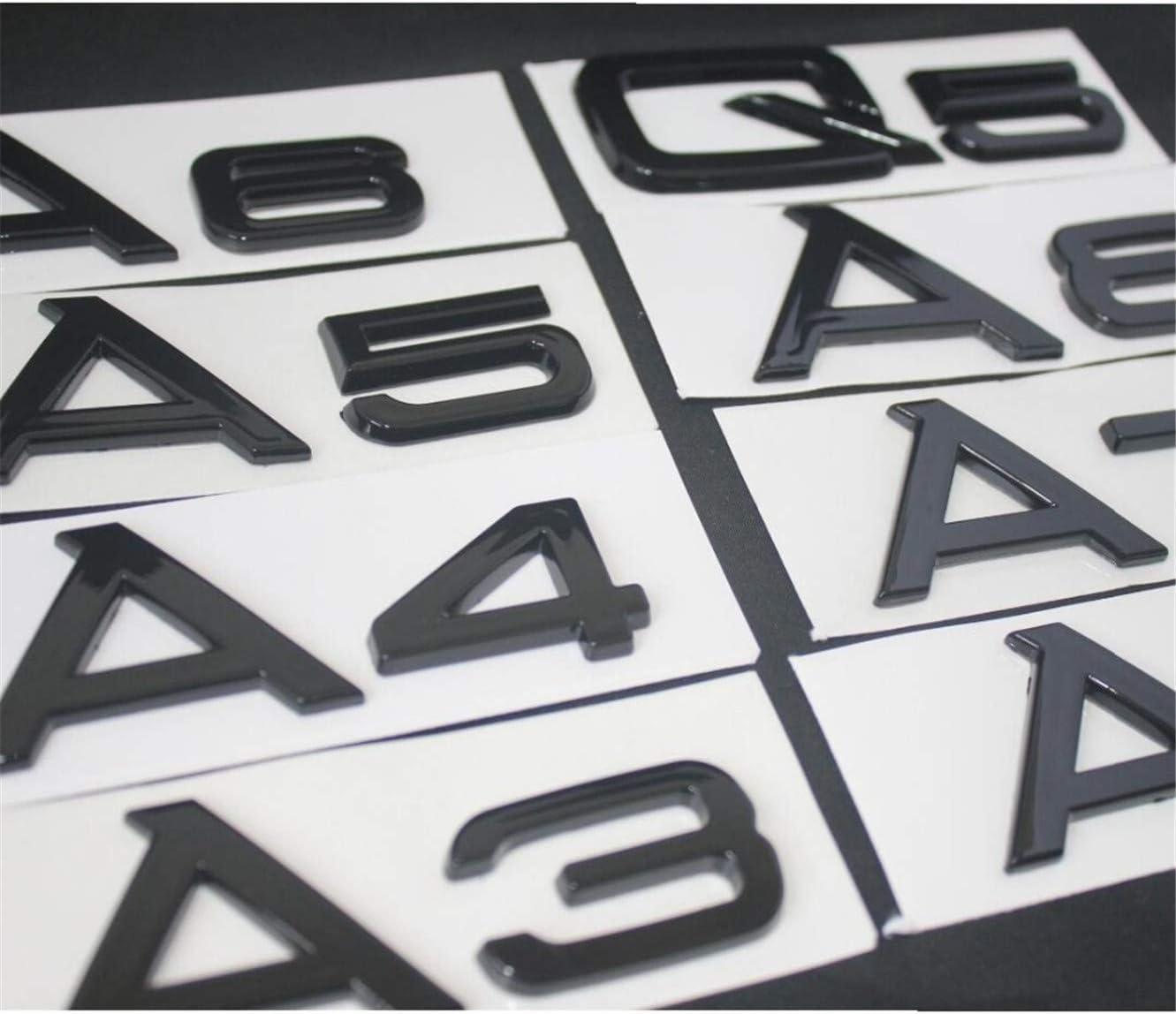 Q5 DGF HGF Brillant Noir Brillant Coffre Arri/ère Lettres Insigne Embl/èmes A3 A4 A5 A6 A7 A8 A4L A6L A8L Q3 Q5 Q7 35 40 45 50 55 TFSI
