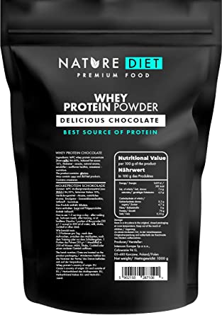 Nature Diet - Proteína de suero en polvo, chocolate