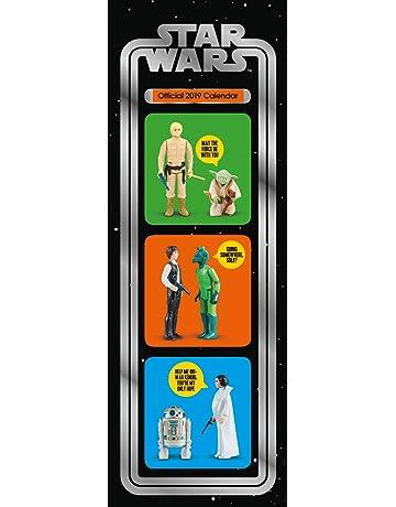 03ac5b52e4aaf5 Star Wars Slim Official 2019 Calendar - Slim Wall Calendar Format