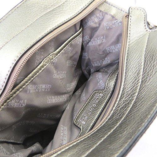 Bolso creativo 'Georges Rech'gris metal - 30x22x10 cm.
