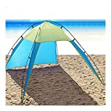 Portable Beach Canopy Sun Shade Triangle Patchwork Tent Shelter Camping Fishing