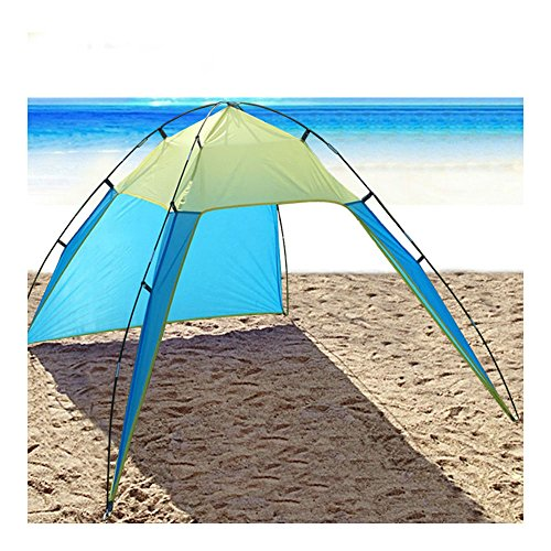 Portable Beach Canopy Sun Shade Triangle Patchwork Tent Shelter Camping Fishing by Unknown