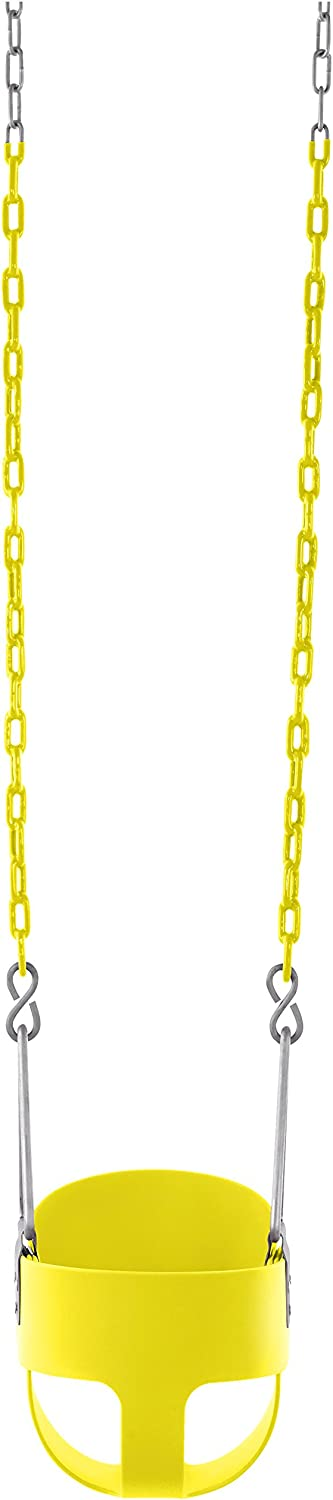 Swingan High Back Full Bucket Toddler /& Baby Swing with Vinyl Coated Chain Fully Assembled