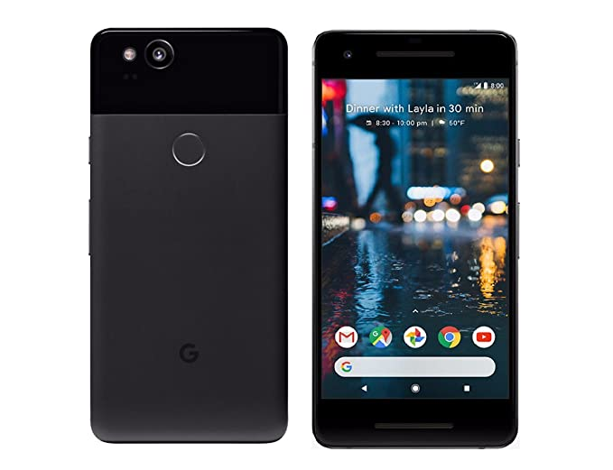 Google GA00139-US Pixel 2 64GB Just Black Verizon Wireless Smartphone