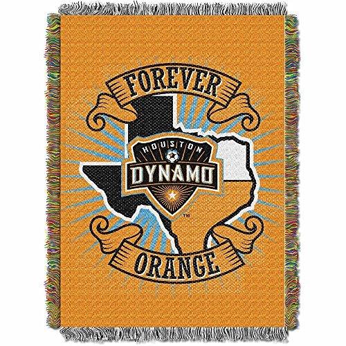(Northwest 051 Handmade NOR-1MLS051010011RET Houston Dynamo MLS Woven Tapestry Throw Blanket, 48 x 60, 48