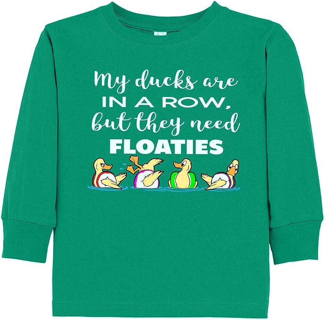 Tenacitee Toddlers Ducks Need Floaties Long Sleeve T-Shirt
