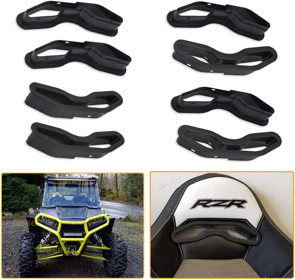 WeiSen 4 Pack UTV Harness Pass Through Seat Bezel Insert Fit Polaris RZR XP 1000 900 S//XC General