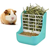 STKYGOOD Rabbit Feeder Bunny Guinea Pig Hay Feeder,Hay Guinea Pig Hay Feeder,Chinchilla Plastic Food Bowl Blue