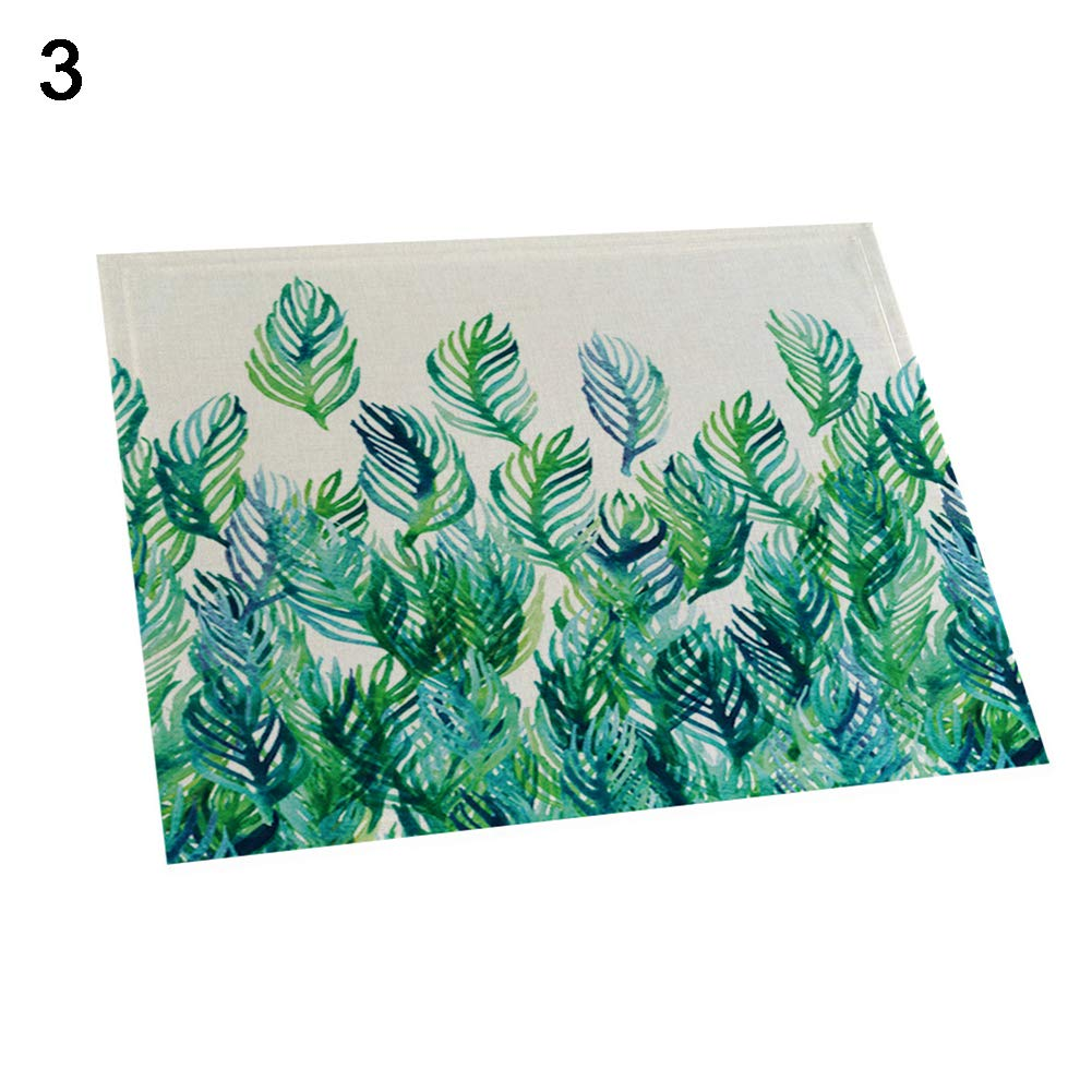 memorytime 42x32cm Monstera Leaves Heat Insulated Pad Kitchen Dining Table Mat Placemat Kitchen Dining Supplies - 3#