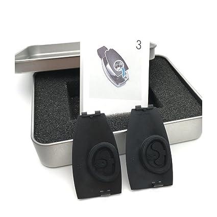 yika 2piezas Metal cromado Apple rbol emblemas insignia clave para funda para Benz A, B, C, ...
