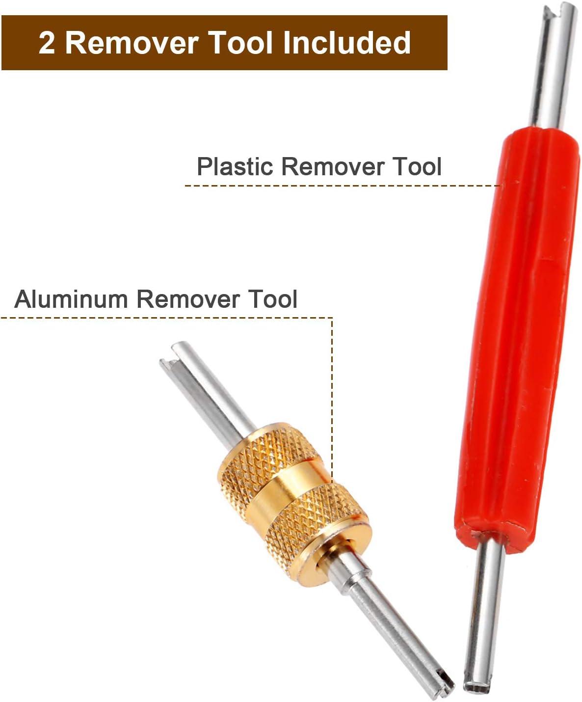 Silver Red Grebest Car Air Conditioning Repair Tool Car Interior Parts Repair Tool 10Pcs//Set Car Air Conditioning Install Repair Tire Valve Core Wrench Remove Tool
