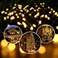 Joomer Solar String Lights 72ft 200 LED 8 Modes Solar Powered Christmas Lights Waterproof Decorative Fairy String Lights for Garden, Patio, Home, Wedding, Party, Christmas