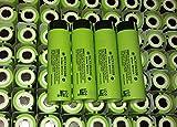 Panasonic NCR18650B Super Max Rechargeable Li-ion Battery, Flat Top Green, 3.7V 3400mAh , 2PCS