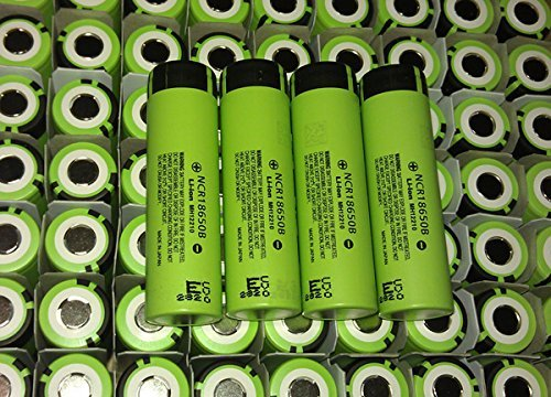 Panasonic NCR18650B Super Max Rechargeable Li-ion Battery, Flat Top Green, 3.7V 3400mAh , 2PCS