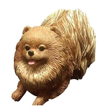 Amazoncom Resin Crafted Small Puppy Dog Pomeranian Statue