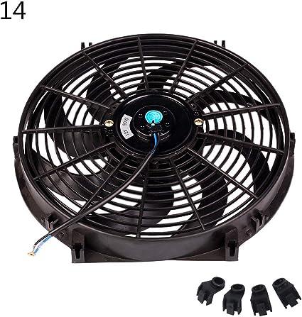 Xineker - Ventilador de radiador de Coche de 10/12/14 Pulgadas ...