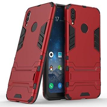 HUUH Funda para Huawei Y7 (2019)/Huawei Y7 Prime 2019,Stent Invisible TPU + PC combinación Aspecto,Ajuste Simple Elegante Generoso fuselaje(Rojo)