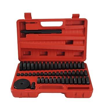 Juego de 52 herramientas de presión, discos de montaje, pieza de presión y extractor