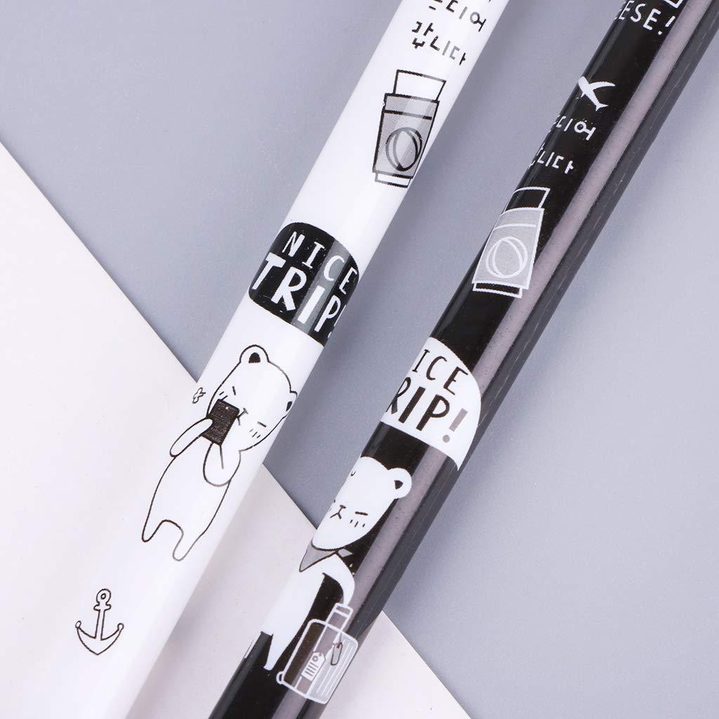osfanersty 2pcs 0.5mm Gato De Dibujos Animados Colgante L/ápiz Mec/ánico Pl/ástico L/ápices Autom/áticos Pluma