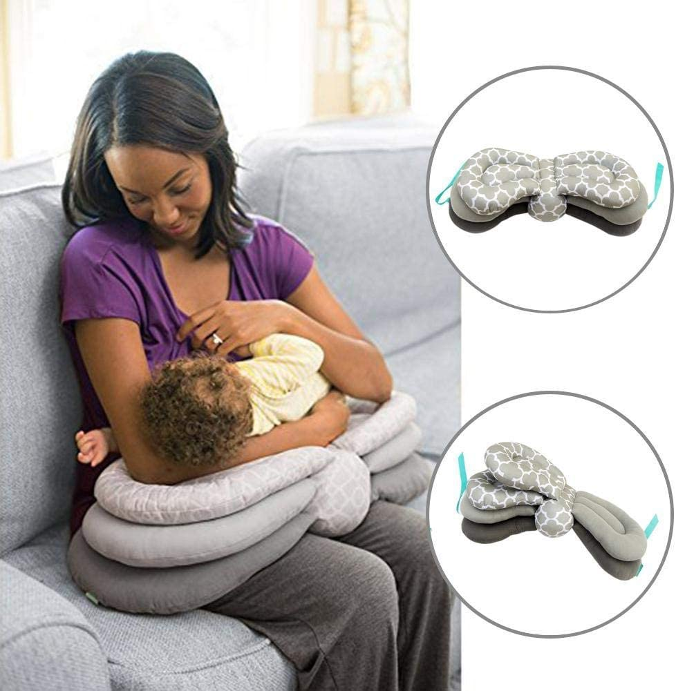 Infant Breastfeeding Pillow for Newborns and Infants from 0-12 Months Height-Adjustable Multifunctional Pregnant Care Pillow Nursing Pillow
