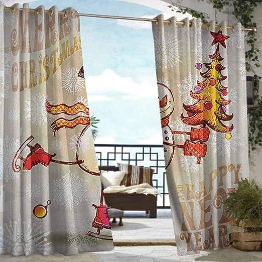 Andrea Sam - Cortina de privacidad para exteriores para pérgola de Navidad, tablones de madera rústicos con