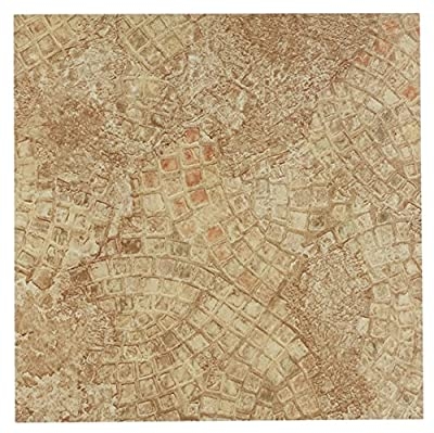 Achim Imports FTVGM32945 Tivoli Ancient Beige Mosaic 12x12 Self Adhesive Vinyl Floor Tiles/45 Sq. Ft, Piece