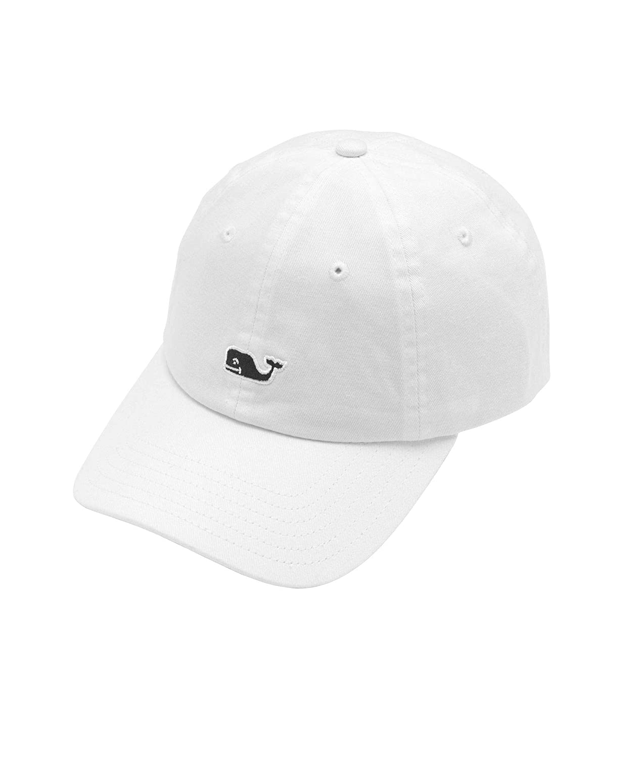 a66395c6307a0 Amazon.com  Vineyard Vines Whale Logo Baseball Hat (White Cap)  Clothing