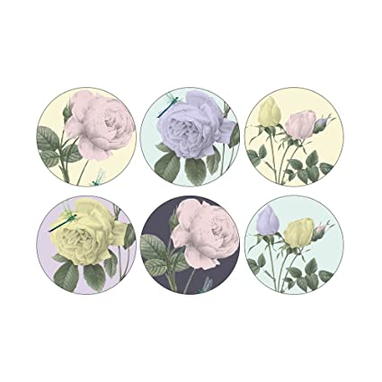 e9f5f9a2c812 Ted Baker Portmeirion Rosie Lee Round Coasters Set of 6  Amazon.co.uk   Kitchen   Home