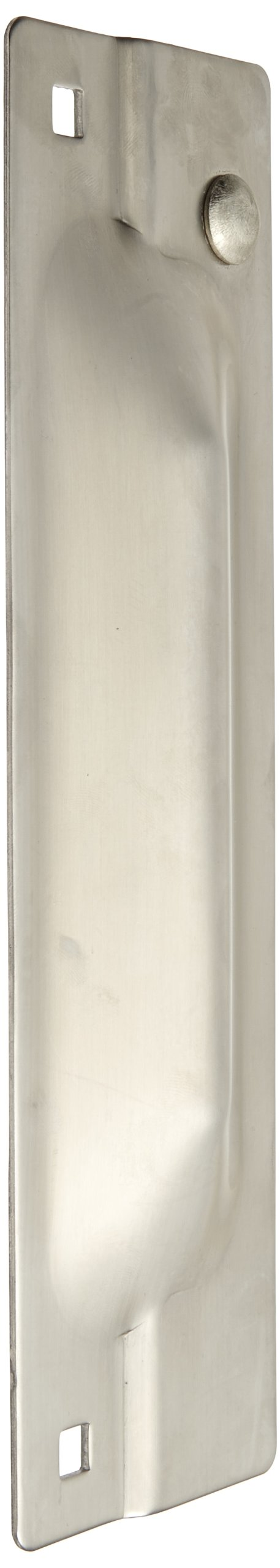 Rockwood 320.32D Stainless Steel Latch Protector, 3'' Width x 11'' Height x .105'' Thickness, Satin Finish