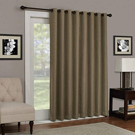 1 pieza 84 cm espresso Color sólido opaco cortina de puerta ...