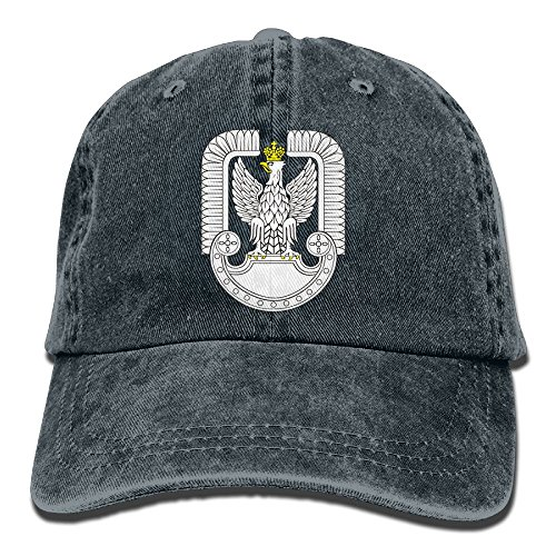Genmai Si Quanjia Polish Army Emblem Patriot Polska Black Military Man & Woman Vintage Adjustable Gym Cap Trucker Hat
