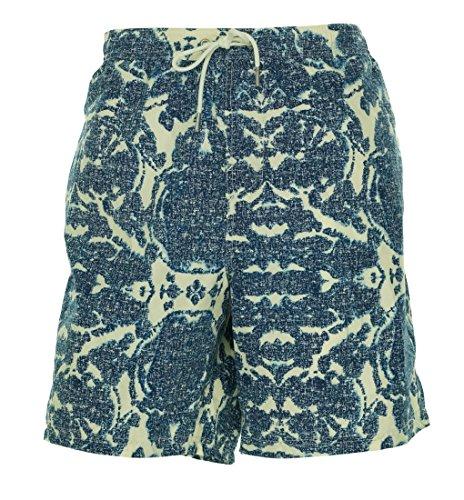 Tommy Hilfiger New Splatter Ink Swim Trunks Board Shorts Indigo XXL