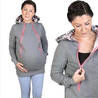 LYH Sudadera La Maternidad, Abrigo, Vestido De Maternidad, Maternidad Abrigo, Jersey De Multifuncionales,Light Grey,L