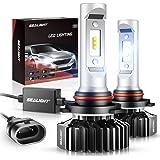 SEALIGHT 9005/HB3 LED High Beam Headlight Bulb 10000LM 9145/9140/H10 Fog Light Bulbs Xenon White 6000K Non-polarity