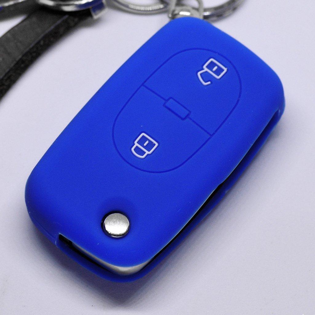 Soft Case Funda Protectora Llave del Coche 2 Teclas Audi A2 A3 A4 A6 S4 TT S6 hasta 2007 Color Rojo