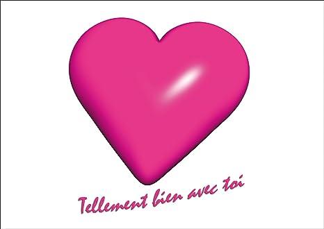 Tarjeta de saludo: tarjeta de amor romántico con un gran ...