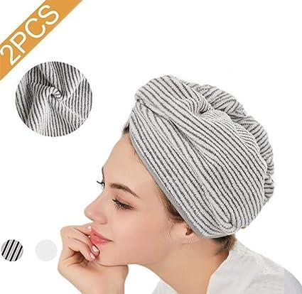 Gorro de ducha de microfibra para el cabello,gorra de secado ...