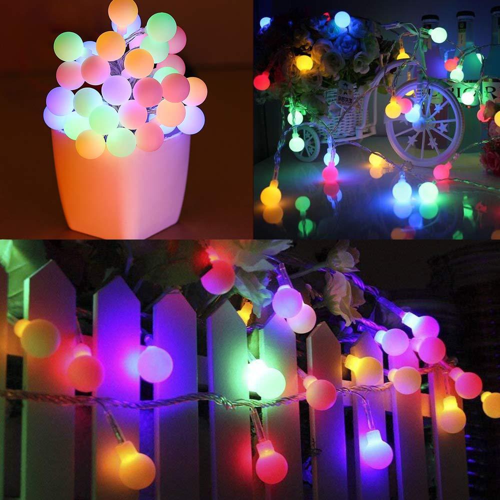 Guirlande Lumineuse 10M 80 LED - Zorara Guirlande LED à Piles 8 Mode - Guirlande Lumineuse Exterieur Romantique Décoration pour Fête...