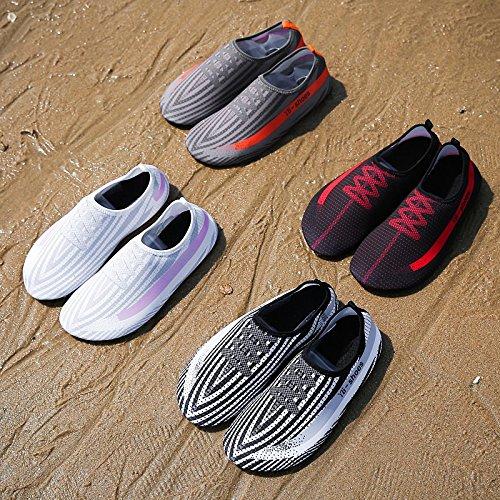 esquí SX 3 zancudas blanco surf y rápido building zapatos y de secado transpirable zapatos Nadar en Lucdespo body negro zapatos acuático zapatillas de de piel playa F16q0gzRpc