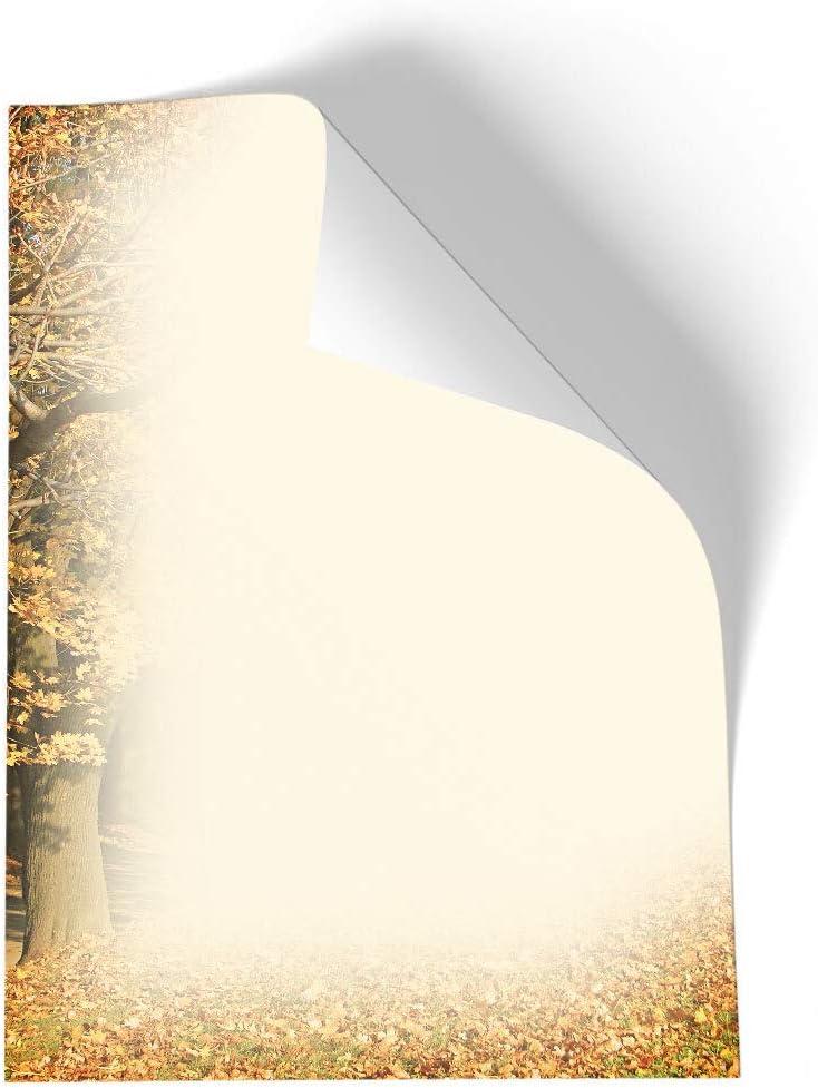 DIN A4 Format 100 Blatt Herbst Herbstmotiv Motivpapier HERBSTRAHMEN Jahreszeiten Paper-Media