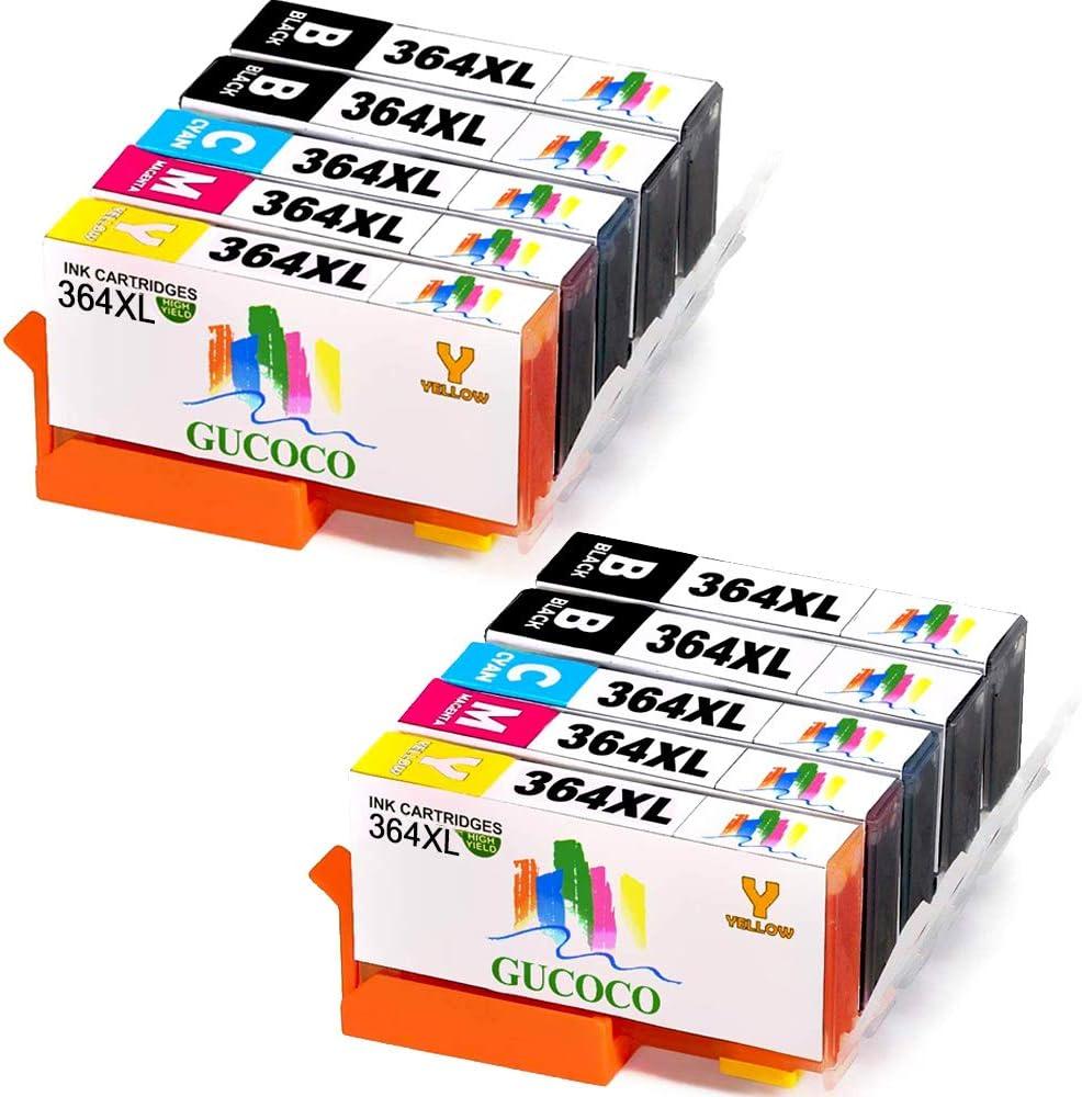 GUCOCO GUCOCO 364XL Alta Capacidad Cartuchos de Tinta Reemplazo para HP 364 Compatible con HP Deskjet 3070A,HP OfficeJet 4620,HP Photosmart HP Photosmart 5520 5510 7520 7510 6510 6520 B110A B8550: Amazon.es: Electrónica