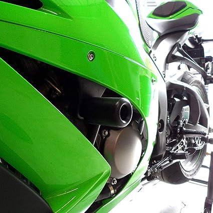 Shogun 2011 2012 2013 2014 2015 Kawasaki ZX10 ZX 10 ZX10R Black No Cut Frame Sliders - 750-4949 - MADE IN THE USA
