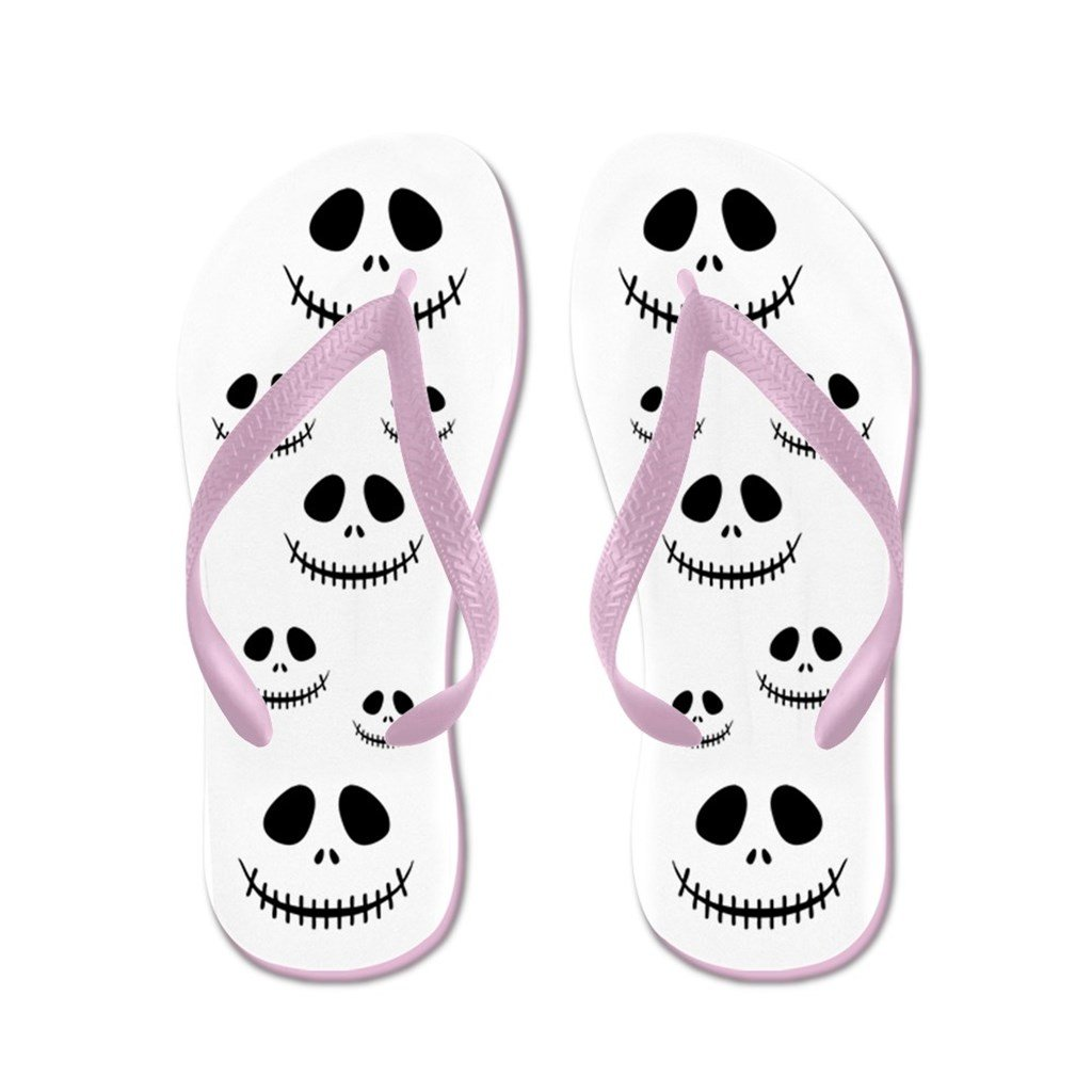 Lplpol Trick Or Treat Skull Anchor Pattern Flip Flops for Kids and Adult Unisex Beach Sandals Pool Shoes Party Slippers