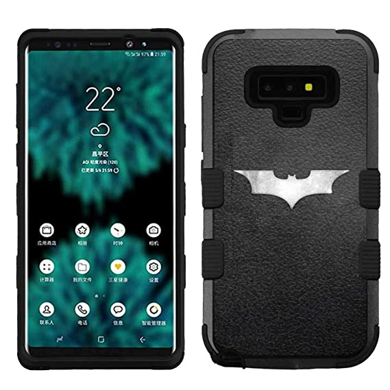 new concept bf1d2 ae41d Amazon.com: for Samsung Galaxy Note 9, Hard+Rubber Dual Layer Hybrid ...