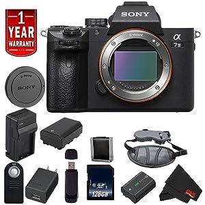 Sony Alpha a7 III ILCE7M3/B A7M3 Mirrorless Digital Camera International Model Body Base Bundle