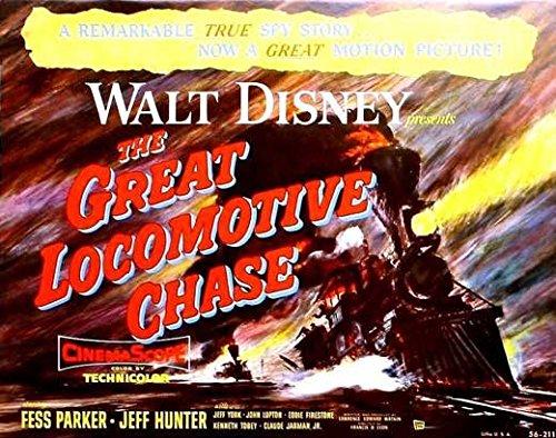 The Brilliant Locomotive Chase Poster Movie (11 x 14 Inches - 28cm x 36cm ) Fess Parker Jeffrey Hunter Jeff York John Lupton Eddie Firestone