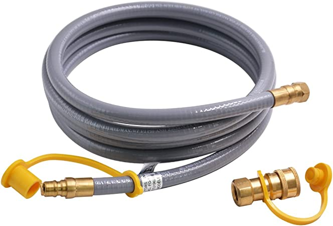 """12ft Natural Propane Gas 3//8/"""" Quick Connect Disconnect Applaince Grill BBQ Hose"""