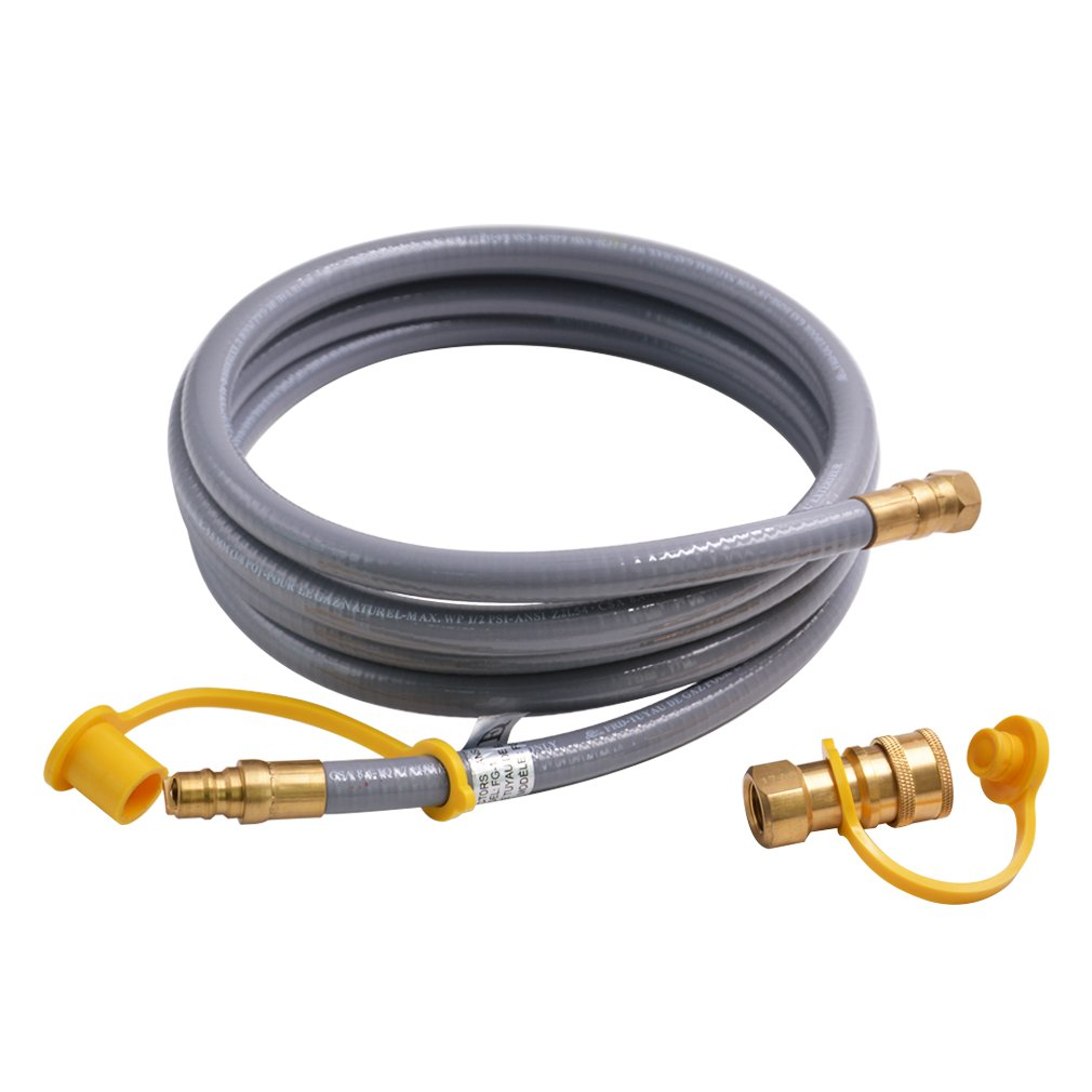 Onlyfire 12 Feet Natural Gas and Propane Hose Assembly with 3/8