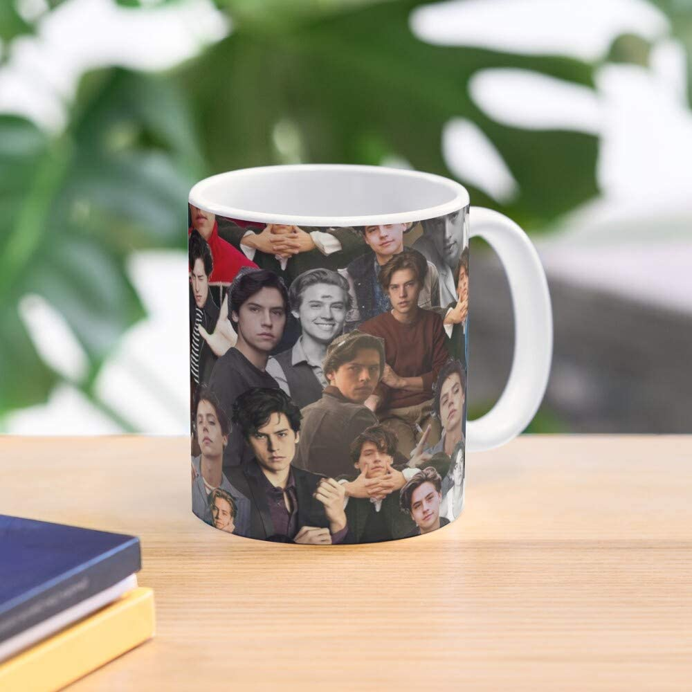 5TheWay Jones Riverdale Collage Sprouse Jughead Dylan Cole Twins Taza de caf/é con Leche 11 oz